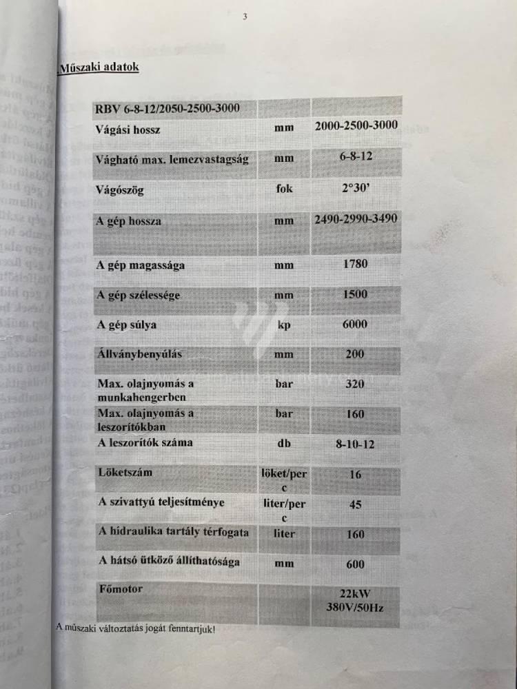 RBV 12/3000